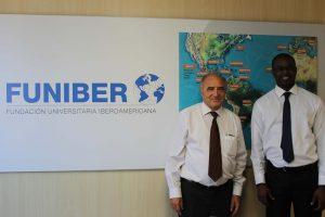 A representative from the University of Dakar (Senegal) visits FUNIBER