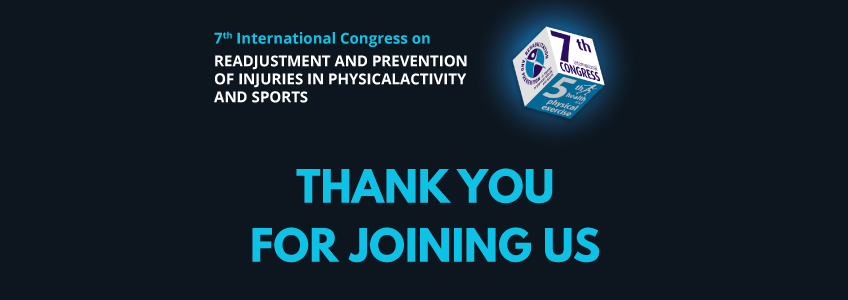 The International Congress on Rehabilitation and Injury Prevention Comes to an End